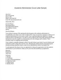 awesome college administration cover letter ideas podhelp info