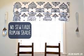 No Sew Roman Shades Instructions - diy stenciled no sew faux roman shade hometalk