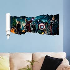 compare prices bedroom wall stickers online shopping buy low lsg new kids children bedroom wall sticker the avengers pattern pvc removable room diy