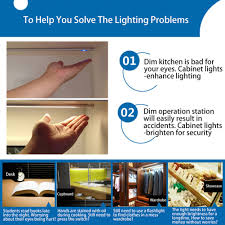 10pcs dc 5v touch sensor led light bar dimmable under cabinet