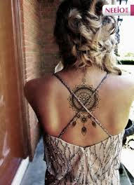 ani013 neeio lotus totem dreamcatcher windbell tattoo henna