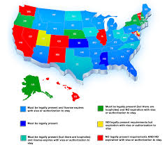 Map Of State map of states and their rules for driver u0027s licenses numbersusa