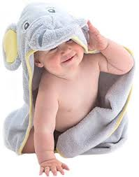 Toddler Bathtub For Shower Soft Elephant Baby Hooded Towel 100 Cotton Baby Bath Towel