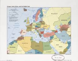 Map Of Israel And Middle East by Amazon Com Map Poster Europe North Africa And The Middle East