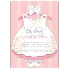 baby shower invites for girl baby girl dress invitations paperstyle