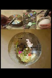 New Years Eve Decorations To Make by Make A Disco Ball With Cds Diy Clock Craft And Christmas Holidays
