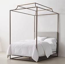Black King Canopy Bed Awesome Antonia Canopy Bed Pottery Barn Within Metal King