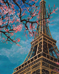 eiffel tower oil painting on canvas 100 hand painting beautiful