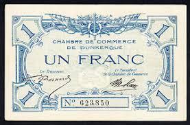 chambre des commerces dunkerque dunkerque chambre de commerce note 1 franc emergency issue