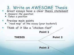 thesis exam ASB Th  ringen Write an AWESOME Thesis Great essays have a clear thesis statement Answers the