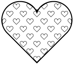 heart valentine pictures stars and heart valentine coloring page