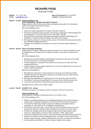 sample profile in resume resume personal profile example cv sample personal profile