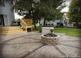 How To Build Fire Pit On Concrete Patio How To Build A Firepit Diy Design Hometalk