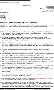 download sample zero hours employment contract template for free