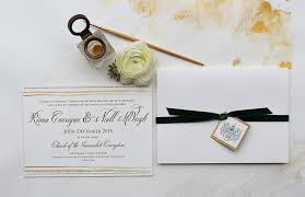 artistic black tie wedding invitations momental designsmomental