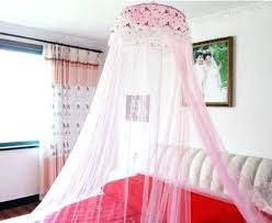 Lace Bed Canopy Curtain Lengths For Windows New Round Lace Dome Bed Canopy Netting