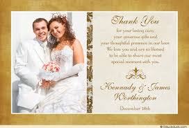 classic photo wedding thank you cards image