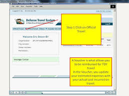 Defense Travel System images 2 creating a voucher 6th bde jrotc supply JPG