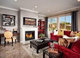 Modern Family Living Room Design  Of  Olive Green Paint - Modern family living room