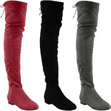 s high boots s thigh high boots the knee low heel flat lace