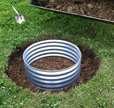Backyard Fire Ring by How To Install A In Ground Fire Pit Ring Outdoor Living