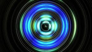 fractal concentric circles to colors tunnel or target colors