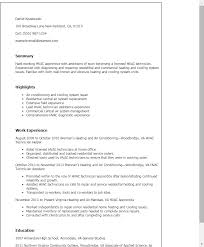 Central Service Technician Resume Sample by Sample Resume Hvac Foreman Create Professional Resumes Online