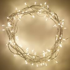 indoor bedroom living room warm white led fairy lights with clear