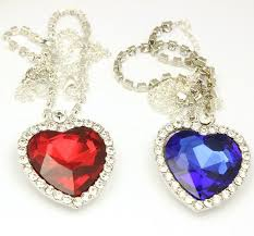 crystal chain necklace images Wholesale crystal chain the heart of the ocean necklace luxurious jpg