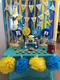 Minion Birthday Decorations Minion Dessert Table Google Search Minions Dt Pinterest