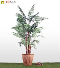 artificial fr areca palm tree in terracotta pot