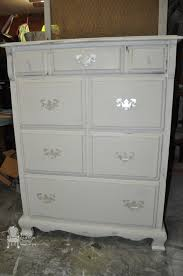 Bedroom Furniture Makeover - painted white bedroom furniture