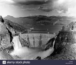theodore roosevelt dam and spillways arizona circa 1916 stock