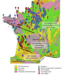 Map Of Brittany France by National Database On Pleistocene Permafrost