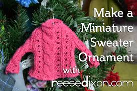 christmas diy miniature sweater on a hanger youtube