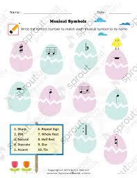 music worksheets u2013 easter u2013 musical terms and symbols