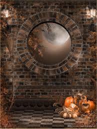 Halloween Backdrop 2017 Vintage Lanterns Brick Wall Backdrop Photography Circle