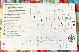 3m Center Map Bonham Quilt Hop U2022 July 28 U2013 29 2017 Visit Bonham