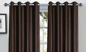 Blackout Window Curtains One Pair Of Bella Luna Heavyweight Blackout Panel Curtains Groupon
