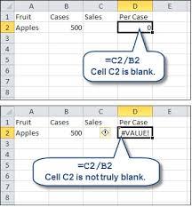 resolving value errors in microsoft excel accountingweb