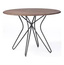 Oval Bistro Table Henry Industrial Modern Paper Clip Bistro Table Kathy Kuo Home