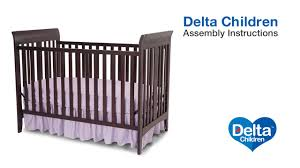 How To Convert A Crib To A Bed by Delta Children Parkside U0026 Bayside 3 In 1 Crib Assembly Video Youtube