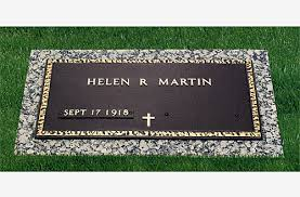 bronze cemetery markers single grave bronze marker installed in miami fl cemetery