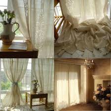 Tab Top Country Curtains Shop French Lace Curtain On Wanelo