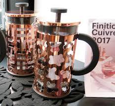bruit et cuisine bodum ou l de marier verre borosilicate silicone et cuivre