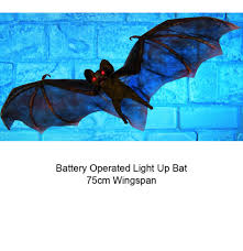 hanging bat with glowing red eyes 75cm wingspan by premier