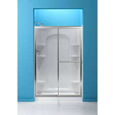 sterling 48 7 8 in x 70 1 4 in framed sliding shower door in