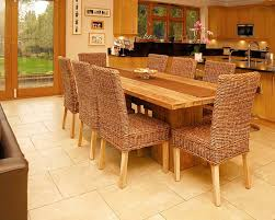 Teak Dining Tables Chunky Wooden Kitchen Table - Teak dining room