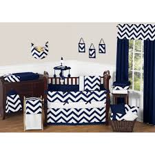 bedroom navy blue chevron bedding plywood pillows lamp shades