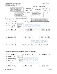 associative property of addition worksheet worksheets